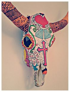 ¡ Mexican cow - Calavera Mexicana - Cabeza de vaca ! ◆ #ideas #decoracion