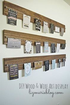DIY:: Easy Craft ! Rustic Beautiful Wood & Wire Display- (Can use For Famiy photos, Chidren's art , and so much more ) #LiquidGoldSalvageWood