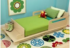 Modern Toddler Bed with storage