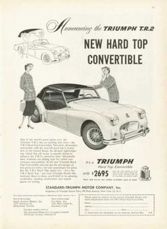 American Triumph TR2 advert courtesy of vintageadbrowser.com