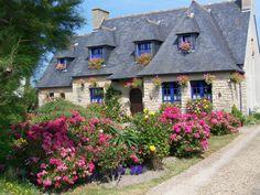 Maison bretonne en fleurs