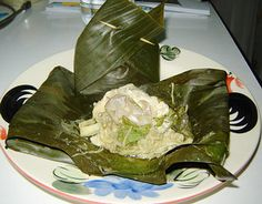 Thai Isaan Ho Mak Gai Sai No Mai - Chicken & Bamboo Wrapped With Banana Leaves (recipe)