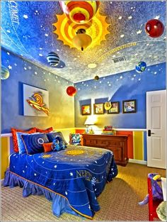 Ideas for baby boy bedroom themes solar system Boys Bedroom Paint, Girls Bedroom, Boy Bedrooms, Bedroom Wall, Small Bedrooms, Bedroom Storage, Boys Bedroom Ideas 8 Year Old, Teenage Bedrooms, Shared Bedrooms