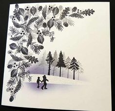 Card-io Majestix Cards For TV Show September 2016 Stamped Christmas Cards, Christmas Card Crafts, Homemade Christmas Cards, Christmas Cards To Make, Xmas Cards, Kanye West, Cardio Cards, Card Io, Christmas Scenes