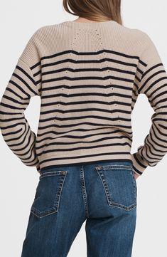 rag & bone Ann Stripe Cardigan   Nordstrom Striped Cardigan, Cashmere Cardigan, Cardigans For Women, Downtown New York, Rag And Bone, Clothing Items, Timeless Fashion, Men Sweater, Jackets