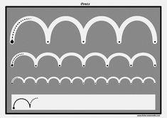 Des pistes graphiques à plastifier pour apprendre à écrire : les ponts