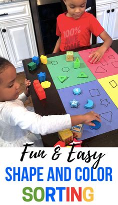 Shape Activities For Toddlers: Color and Shape Sorting