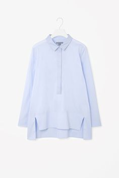 COS image 2 of Grosgrain collar shirt in Pale Blue
