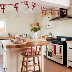 Bunting makes everything better.   Great British Bake Off design ideas