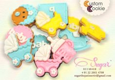 We made these adorable cookies for Baby Shower giveaways and they were such a hit! If you are planning giveaways for a special occasion, call us on 022-26614708 and we'll bake you a special batch of goodies! #sugarthepatisserie #cookie #speciallymade #custom #baby shower #boyorgirl #desserts #mumbaifoodie #mumbaieats