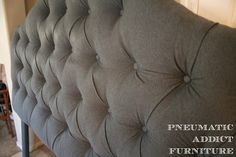 Pneumatic Addict Furniture: Tufting a Headboard the EASY Way