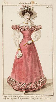 COSTUME PARISIEN - Chapeau de bois dit paille de riz.. (2308), published in Paris 1825.