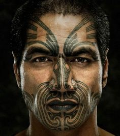 To the Maori, the application of the Ta Moko tattoo is considered sacred. It tells the individual's bloodline or tribal history. It also indicates social standing. Maori Tattoos, Ta Moko Tattoo, Warrior Tattoos, Polynesian Tattoos, Tattoo Ink, Tribal Tattoos, Sleeve Tattoos, Polynesian Art, Armor Tattoo