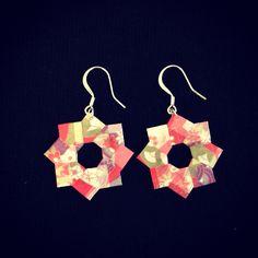 Origami earrings DIY by Tania Ishii