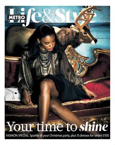 Christmas special fashion shoot, shot by Phillip Waterman for for Metro newspaper. Hair by Jason Crozier of CrozNest in residence at No74 Hair & Beauty London.