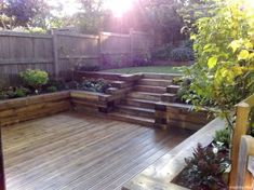 Raised bed with railroad ties 037 awesome garden furniture design ideas