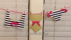 Black & White Striped Lingerie Banner Kate by TotalBlissBoutique