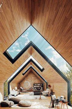 Homes Ideas Architectural glass apex roof.Architecture Homes Ideas Architectural glass apex roof. Dream Home Design, Modern House Design, Home Interior Design, Glass House Design, Exterior Design, Modern Exterior, Interior Ideas, Plans Architecture, Interior Architecture