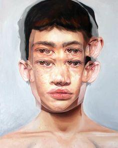 Artist: Alex Garant Title: Hypnosis x Medium: Archival Pigment Print No date Alex Garant, Distortion Art, A Level Art Sketchbook, Art Alevel, Good Morning World, Sketch Inspiration, Gcse Art, Portrait Art, Portraits