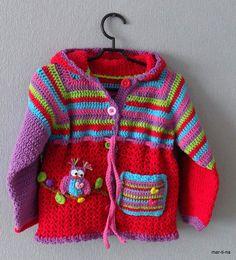 Crochet Hoodie, Crochet Cardigan Pattern, Hoodie Pattern, Crochet Jacket, Knit Crochet, Boy Crochet Patterns, Chunky Knitting Patterns, Baby Knitting, Baby Girl Crochet