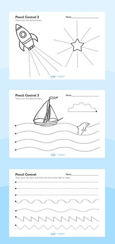 Twinkl Resources Pencil Control Worksheets Printable resources for Primary… Preschool Writing, Preschool Worksheets, Preschool Learning, Writing Activities, Educational Activities, Fun Learning, Preschool Activities, Pre Writing, Writing Skills
