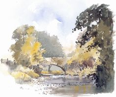 Rock Bridge painting inspiration Source by Watercolor Sketch, Watercolor Artwork, Watercolor Landscape, Watercolor Print, Landscape Art, Landscape Paintings, Watercolor Painting Techniques, Gouache Painting, Bridge Painting