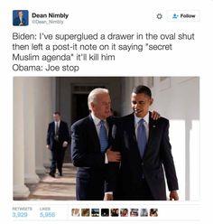 Funniest Memes of Biden and Obama Pranking Trump: Secret Muslim Agenda