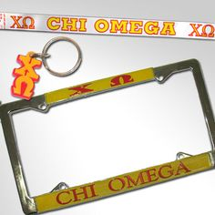 Chi Omega Car Package $19.95 #Greek #Sorority #Accessories #ChiO #ChiOmega #Car #Package