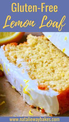 Gluten Free Lemon Cake, Gluten Free Cakes, Gluten Free Desserts, Gluten Free Recipes, Loaf Recipes, Lemon Recipes, Lemon Desserts, Summer Desserts, Lemon Glaze Recipe