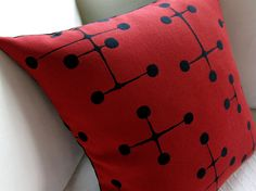 Eames Mid Century Modern Pillow by Atomic Livin Home. Available at Thrive Furniture.