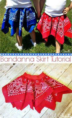 Bandanna Circle Skirt Tutorial by U Create                                                                                                                                                     More