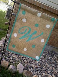 Burlap Garden Flag. $15.00, via Etsy.