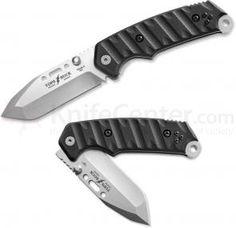 TOPS/Buck CSAR-T Tactical Folding Knife 3-1/2 inch Tanto Plain Blade, G10 Handles