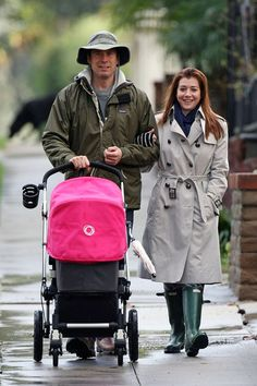Alyson Hannigon in a pair of Hunter Wellies