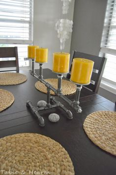 Industrial Pipe Candleholder - Table and Hearth