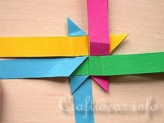 Free Craft Instructions - How to Make a German Paper Star (Froebel Star) 3