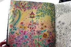 Resultado de imagem para jardim secreto imagens coloridas do 1 desenho
