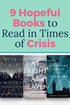 In times of crisis, pick up a hopeful book to help you get through. The books on this list from Mind Joggle feature stories of overcoming the odds; they'll give you hope that this struggle, too, will pass. #books #booklist #hope Best Historical Fiction, Literary Fiction, Fiction And Nonfiction, Great Books To Read, Good Books, This Book, Reading Lists, Book Lists, The Guernsey Literary