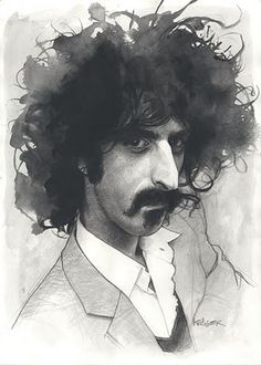 sweet caricature of Frank Zappa by Sebastian-Kruger