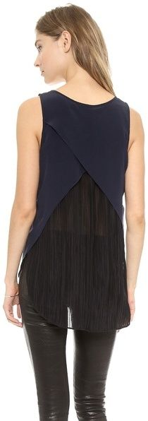 10 Crosby Derek Lam V Neck Tank with Cross Back