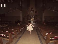 You see that little girl, skipping happily to the altar of the church. You decide not to tell her about the priest's glowing red eyes, let alone whatever that thing is behind the priest. Gothic Aesthetic, Aesthetic Grunge, Whats Wallpaper, Nicole Dollanganger, Im Losing My Mind, Southern Gothic, Grunge Photography, Creepy Cute, Cursed Images
