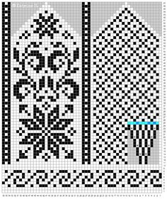 Norwegian mittens in the selbu tradition. Knitted Mittens Pattern, Fair Isle Knitting Patterns, Knit Mittens, Knitting Charts, Loom Knitting, Knitting Stitches, Knitting Socks, Hand Knitting, Cross Stitch Christmas Stockings