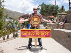 The true Equator - top 10 things to do in Ecuador, including popular Ecuadorian sightseeing activities and attractions, both in the big cities and rural pueblos: http://gobackpacking.com/travel-guides/ecuador/things-to-do-activities-attractions/  #Ecuador #SouthAmerica #backpacking