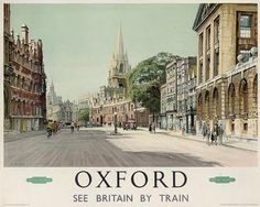 The 1950s British Railways poster promoting Oxford