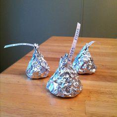 Olivia's valentine snack- rice krispie treats wrapped up like kisses