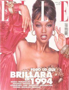 Tyra Banks - Elle Spain Jan 1994