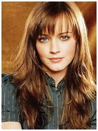 long hair styles with bangs - Google Search