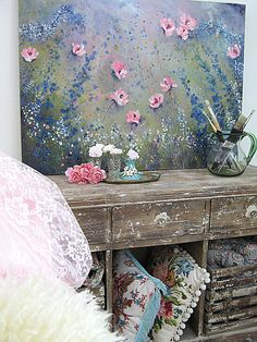This is sort of a cross between shabby chic and boho. Vintage Shabby Chic, Shabby Chic Decor, Bohemian Decor, Vintage Art, Vintage Style, Woodland Party, Hippie Style, Boho Style, Bunt