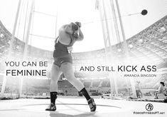 Amanda Bingson, Feminine, Hammer Throw, Olympics, US, Strength, Courage, Kick Ass, Motivation, Hard Work, Effort, Fitness, Sport Motivation, Hammer Throw, Athlete Quotes, Body Positive Quotes, Athletic Events, Shot Put, Track Workout, Sport Quotes, Funny Messages