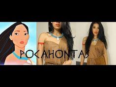 Disney Pocahontas Inspired Halloween Tutorial |DIY Necklace| CillasMakeup88 - YouTube